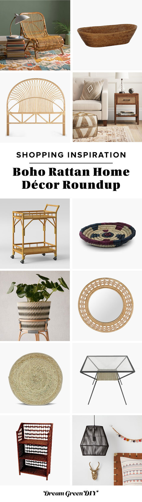 Boho Rattan Home Décor Roundup