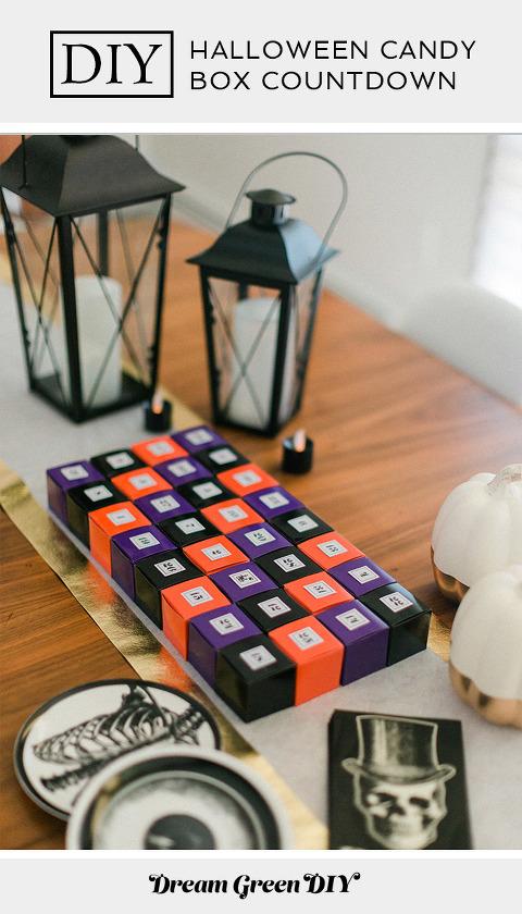 DIY Countdown To Halloween Candy Calendar