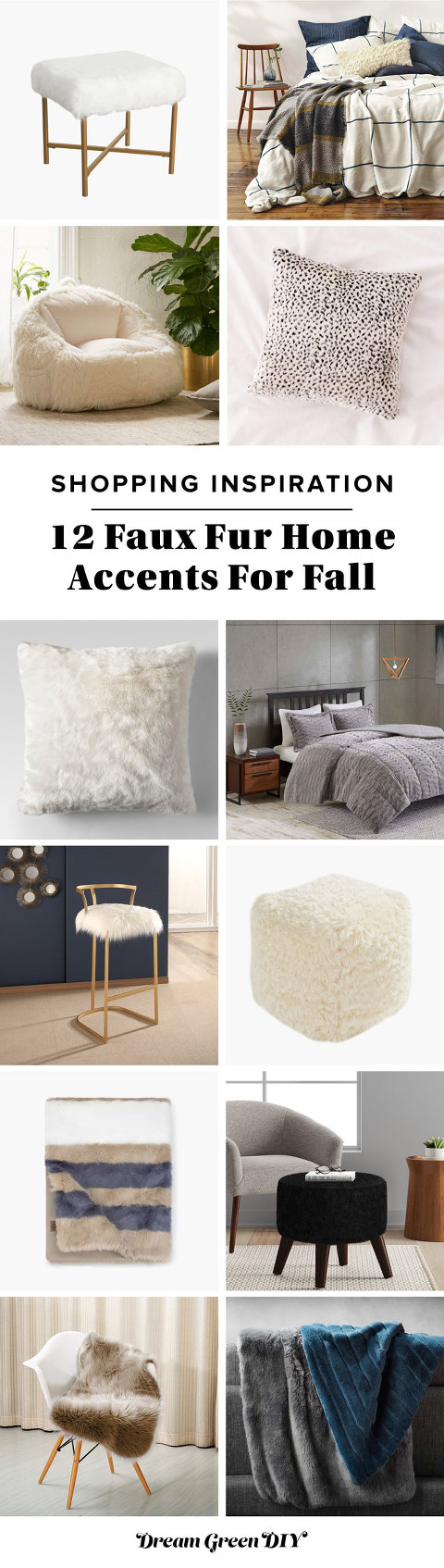 12 Faux Fur Home Accents For Fall