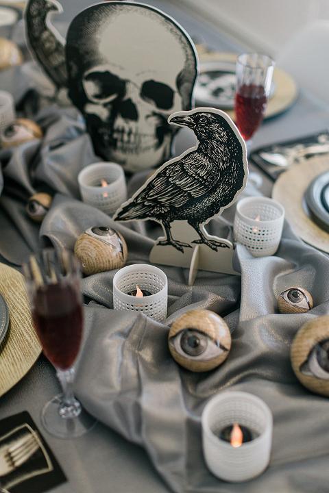 Creepy Classy Black & White Halloween Party
