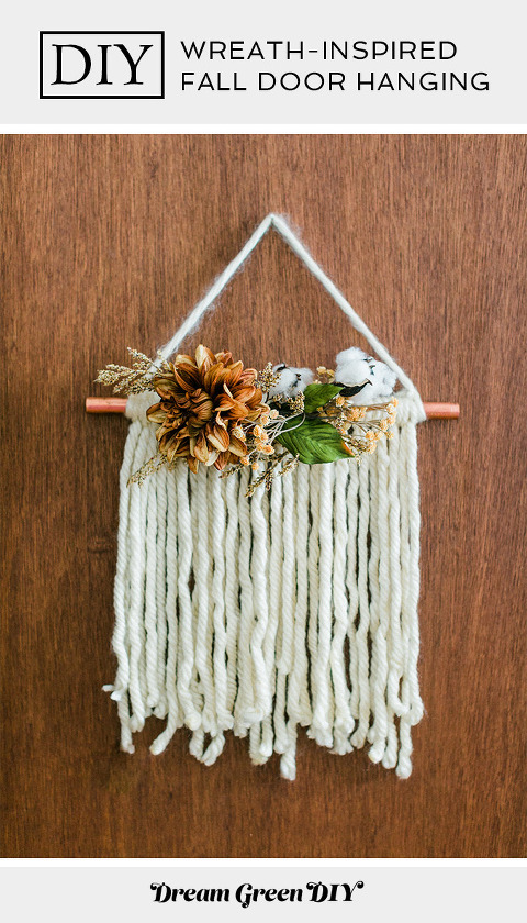 DIY Thanksgiving Wreath-Inspired Door Hanging
