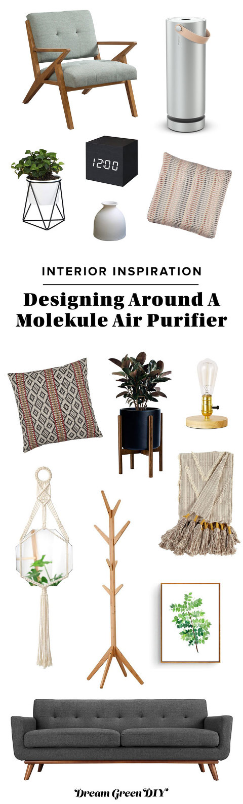 Designing Around A Molekule Air Purifier | dreamgreendiy.com + @Molekule #ad #mymolekule