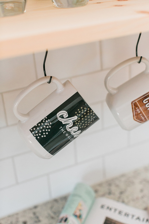 DIY Custom Photo Mug Rail For The Kitchen