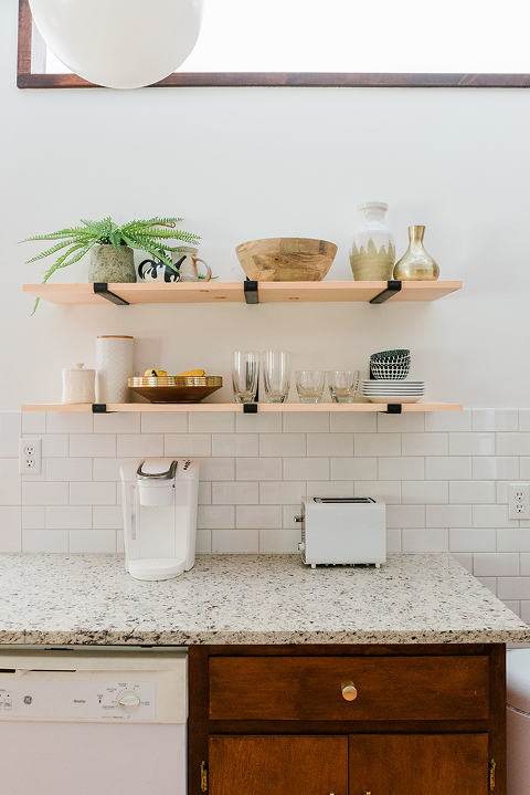 How To Install & Style Open Kitchen Shelves
