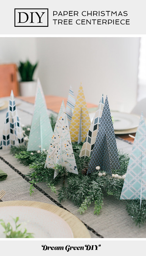 DIY Paper Christmas Tree Centerpiece