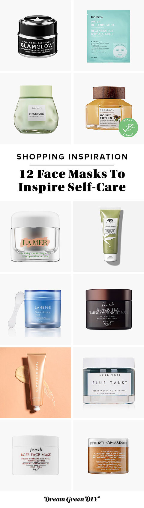 12 Face Masks To Inspire Self-Care