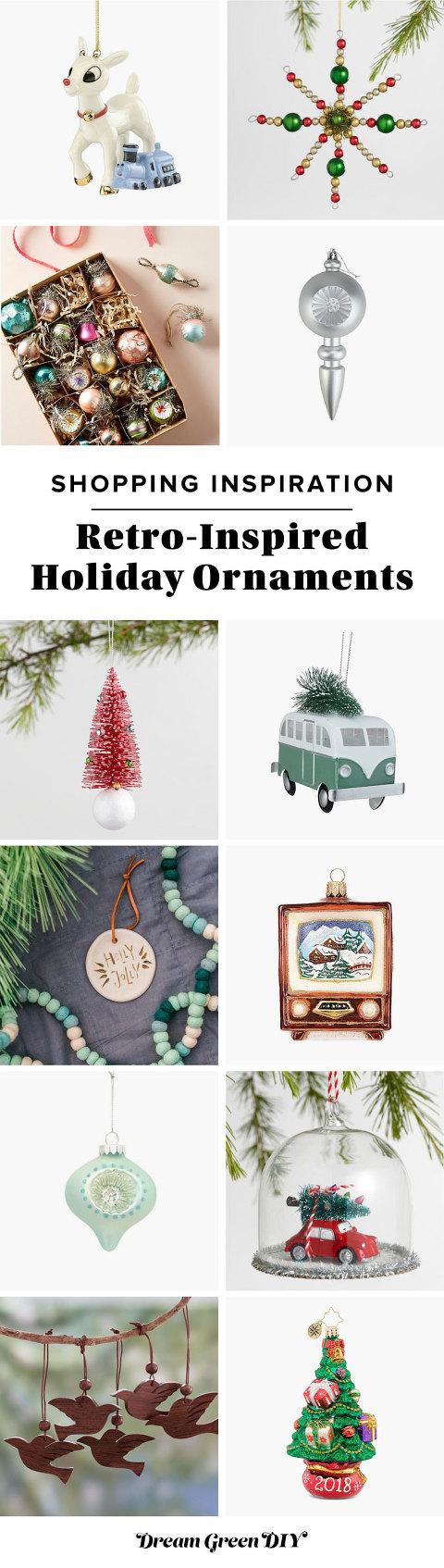 Retro-Inspired Christmas Ornaments
