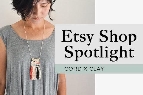 Etsy Shop Spotlight: Cord x Clay