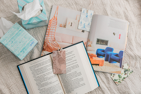 My Spring Reading List & DIY Bookmarks