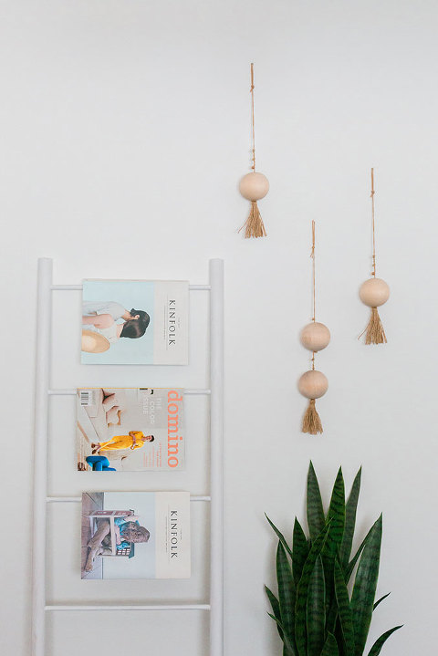 DIY Tasseled Wooden Beads Wall Hanging