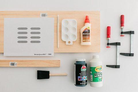 DIY Wooden Dashed Desktop Paper Tray