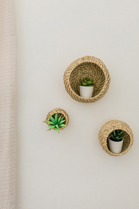 Hack IKEA Baskets Into Succulent Shelves