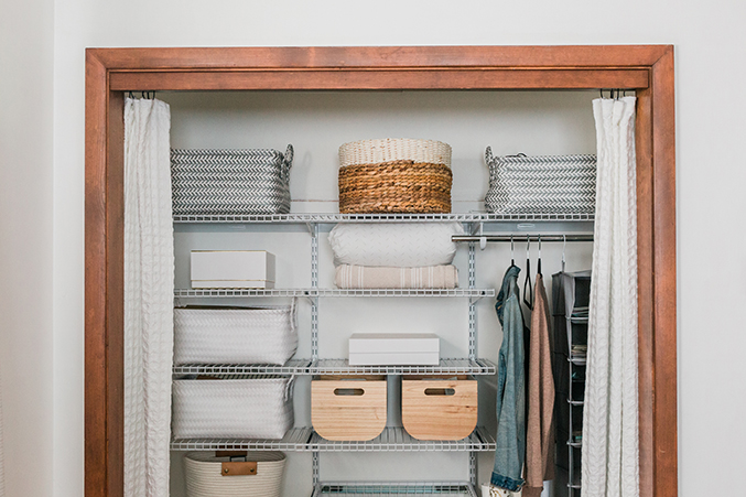 How To Upgrade Your Guest Room Closet - Dream Green DIY