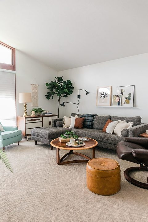 Tour Our Casual Mid-Century Living Room