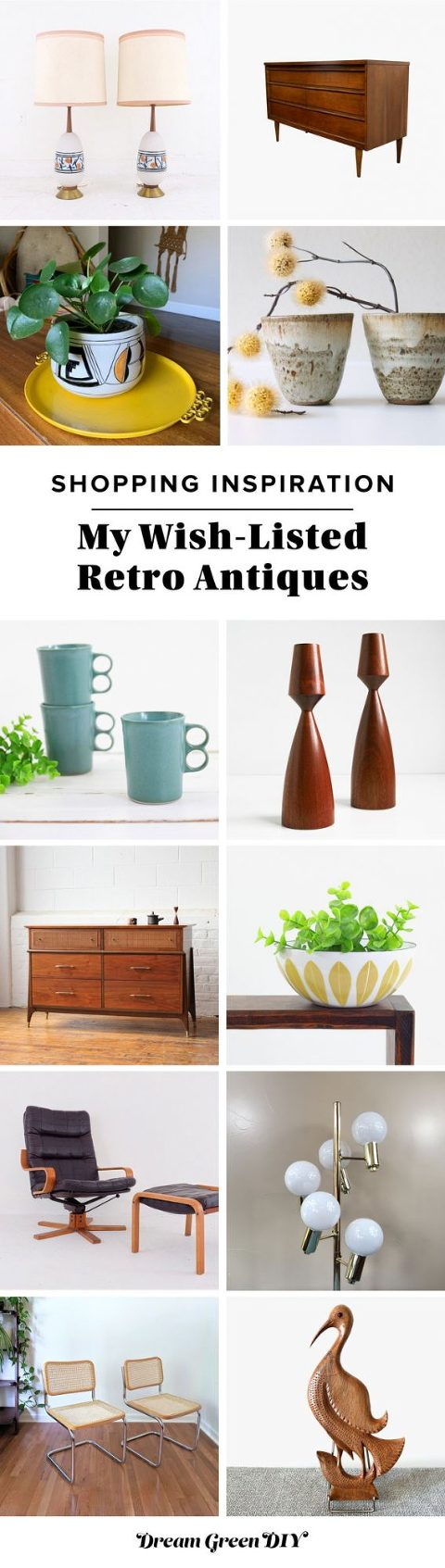 My Wish-Listed Mid-Century Antiques