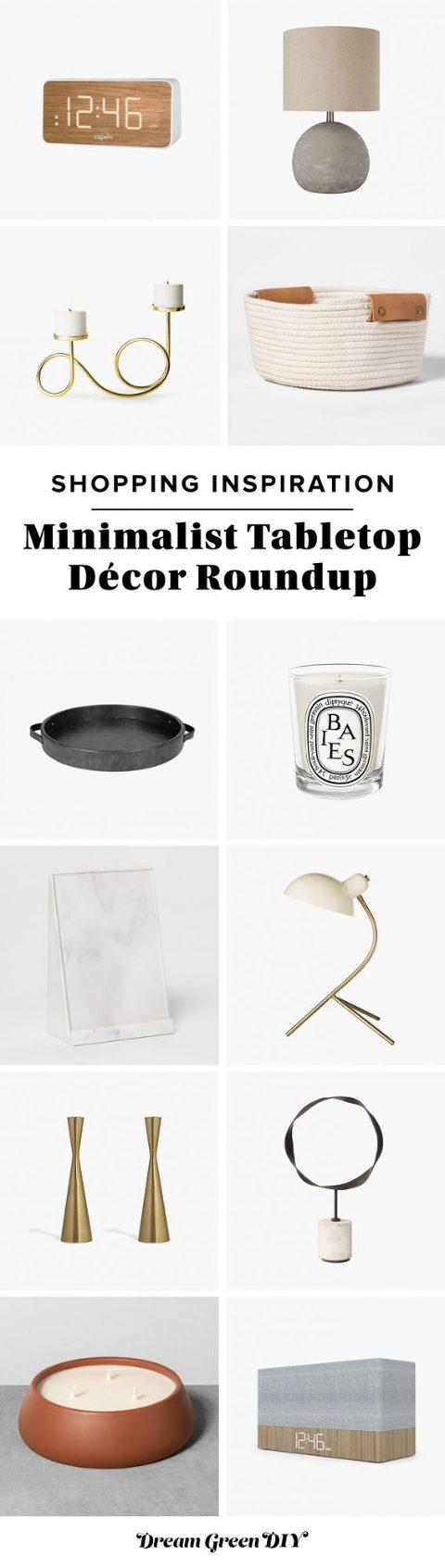 Minimalist Tabletop Décor Roundup