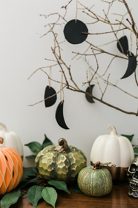 DIY Moon Phases Halloween Ornaments