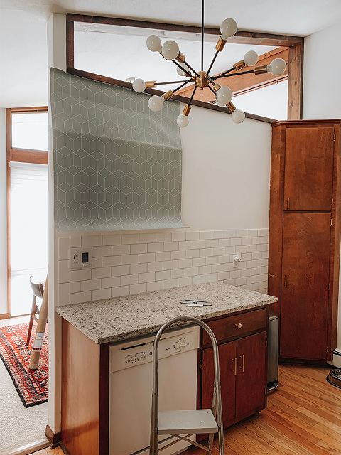 DIY Wallpapered Refrigerator Makeover