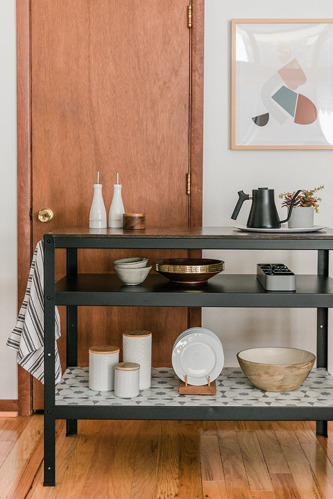 From IKEA Work Table To Kitchen Island - Dream Green DIY