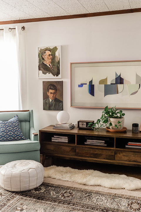 Family Room Winter Decor Updates Dream Green Diy