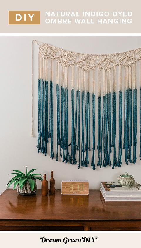DIY Indigo Macrame Wall Hanging