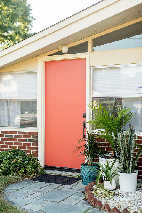 Palm Springs Inspired Mid-Century Entryway