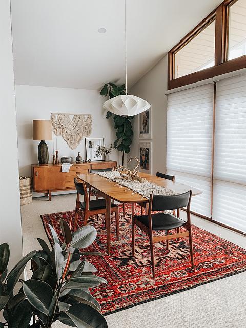 Boho dining room decor