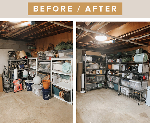 Ideas for organizing in the basement