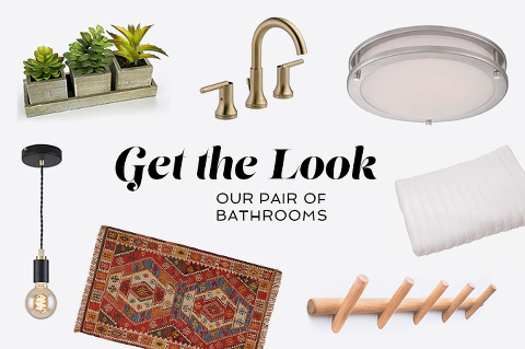 Get The Look: Our Pair Of Bathrooms