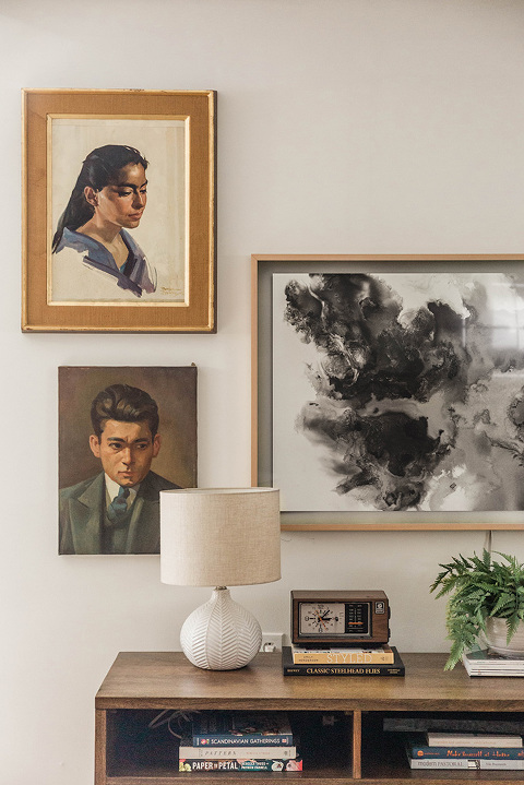 Vintage portrait paintings
