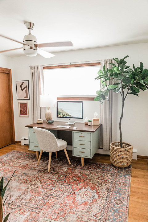 My Color-Blocked Home Office Tour