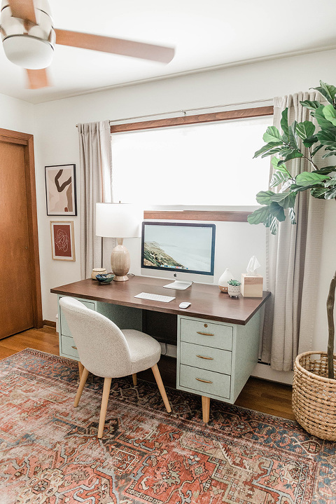 DIY Wallpapered Desk Makeover