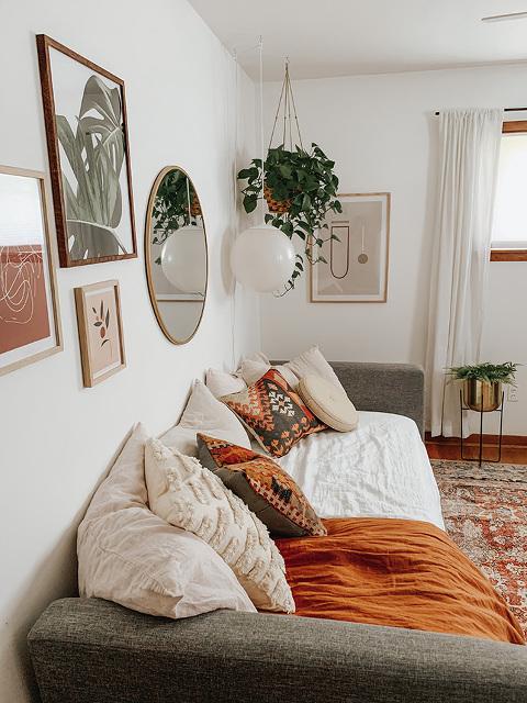 Boho guest bedroom design