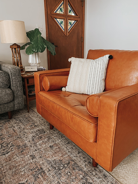 INMOD Ashton Leather Armchair Review | dreamgreendiy.com + @inmod #ad