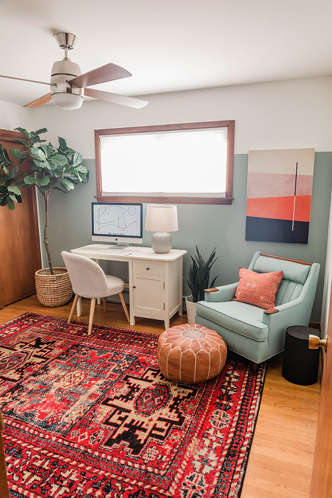 A Colorful Office Makeover Challenge